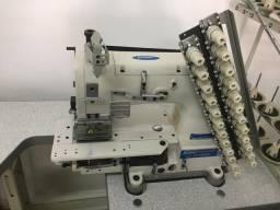 Maquina de costura elastiqueira 12 agulhas protex semi nova