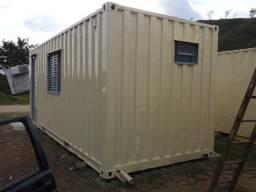 Container dry 20 pés escritório revestido