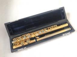 Flauta transversal Hoyden dourada linda