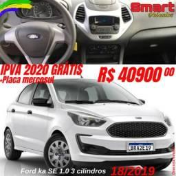 Smart Veículos - FORD Ka Se 3c, 18/2019, R$ 40.900,00 - 2019