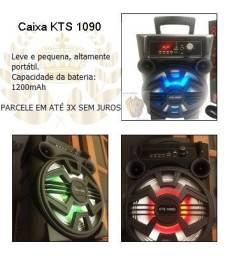 Caixa de som KTS 1090 (Bluetooth e Microfone)