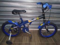Bicicleta Batman aro 16 rodas de alumínio coloridas