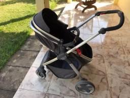 Carrinho Kiddo Moon + Bebê conforto + Base