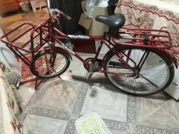Uma bicicleta cargueira, com nota fiscal