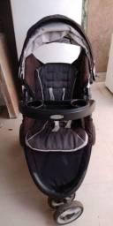 Carrinho Graco com travel system + Bebê conforto + base para carro