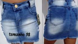 Saia jeans apenas 45 reais.