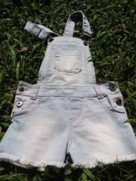 Macacão  jeans infantil  3 anos