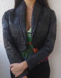 Jaqueta de Couro Curta