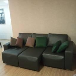 Título do anúncio: Sofa retrátil cirino liso grafite 2,30 m