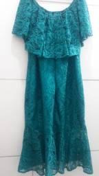 Vestido azul estilo sereia TAM G