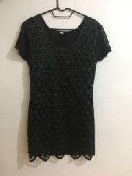 Vestido preto com pedras (M)