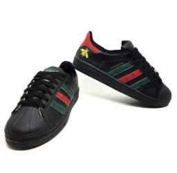 Tênis Adidas Superstar Gucci Preto<br><br>Novo Número 34 ao 38