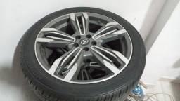 rodas 18 225/45 do novo Corolla pneus novos