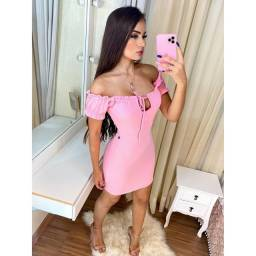 Vestido rosa @carvalholuxos