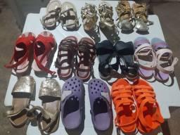 Lote de sandália variadas