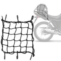 Rede Elástica Aranha Piraval Moto Motocicleta Capacete Bagageiro 35 x 35 cm Preto