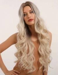 Lace/peruca sintética loira NOVA