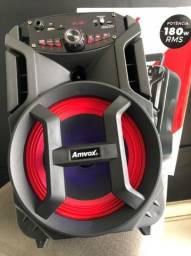 Caixa Amplificada Amvox ACA-188 Gigante Usb, Sd, Bluetooth, Led 180W (Lojas WiKi)