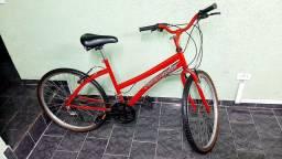 Bicicleta Feminina Ficher Aro 26 18v Semi Nova Câmbio Rapid Fire