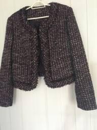 Título do anúncio: Casaco Tweed roxo
