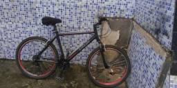 Bike Caloi Aro 26 Aluminio Jante Aero/Raio Inox/Shiamano /V-Break ( Sem catraca)
