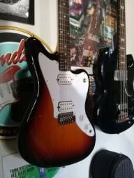 Guitarra Squier Jagmaster Standard e Baixo Epiphone EB3 (Leia descrição)