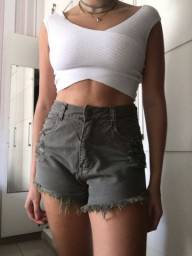 Short Jeans Verde Militar Lady Rock