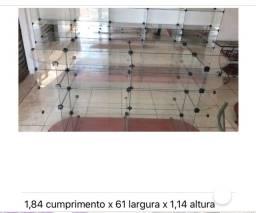 Título do anúncio: Prateleiras de vidro