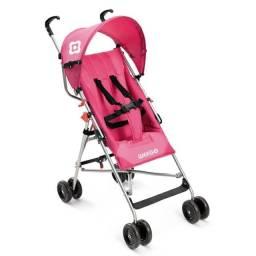 carrinho de bebê weego com a cor rosa