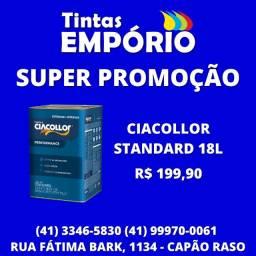 Promoção tinta Ciacollor standard 18L