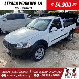 Strada working 1.4 cabine simples 2013 completo !!