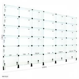 Estante modulada 1,90 x 3,00 R$1.750,00 incluso entrega e montagem