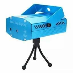 Título do anúncio: Mini Laser Stage Lighting Original Projetor Holográfico Luz De Festa, entregamos