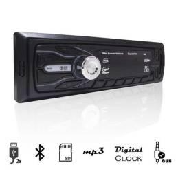 Rádio Mp3 USB, Bluetooth, Aux, SD, Fm Automotivo c/ Controle