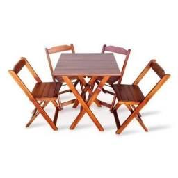 Mesa com cadeiras dobrável PROMOÇÃO