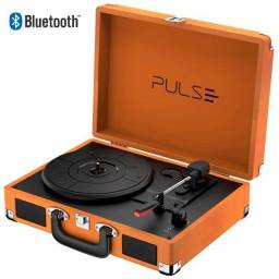 Toca Discos De Vinil Vitrola Retro Mala Maleta Bluetooth Aux