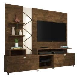 """Título do anúncio: Home CRS778 TV 55"""" 2,10 m, LED embutido, rodízio. Entrega à jato!!!"""