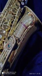 Sax alto yamaha 61 logo purple
