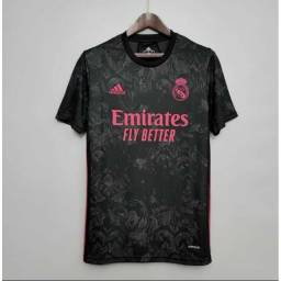 Título do anúncio: Camisa Real Madrid preta ( Tailandesa 1.1)