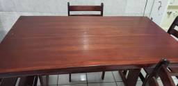 Mesa de cozinha madeira boa 5 cadeiras