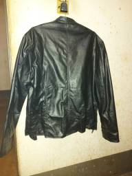 Jaqueta de couro legítimo nova GG