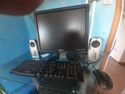 Monitor 17 polegadas + kit multimídia para PC