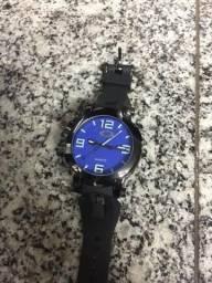 Relógio Oakley Gearbox Titanium Fundo Azul