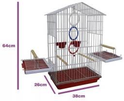Gaiola Super Luxo para Calopsita e Pássaros Mansos
