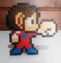 Alex Kidd In A Miracle World Sega Master System Pixel Art Perler Beads Hama com base