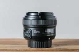 Lente Yongnuo 50mm - f 1.8 para Nikon