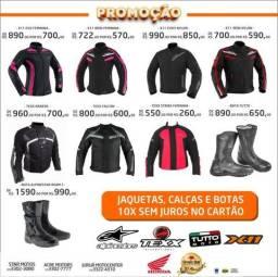 Motos Promoção de Jaquetas, Calsas e Botas 10x sem juros