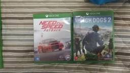 Jogos Xbox one watch dogs 2 e need for speed payback