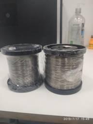 Fio de aço para cerca elétrica inox 0.45 e 0.6