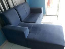 Jogo sofá de veludo 4Lugares